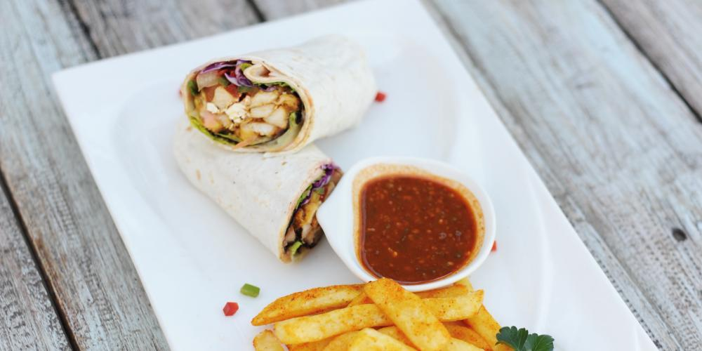 Chicken wrap for the not so hungry